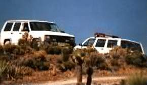 White Jeep Cherokees patrol the border.