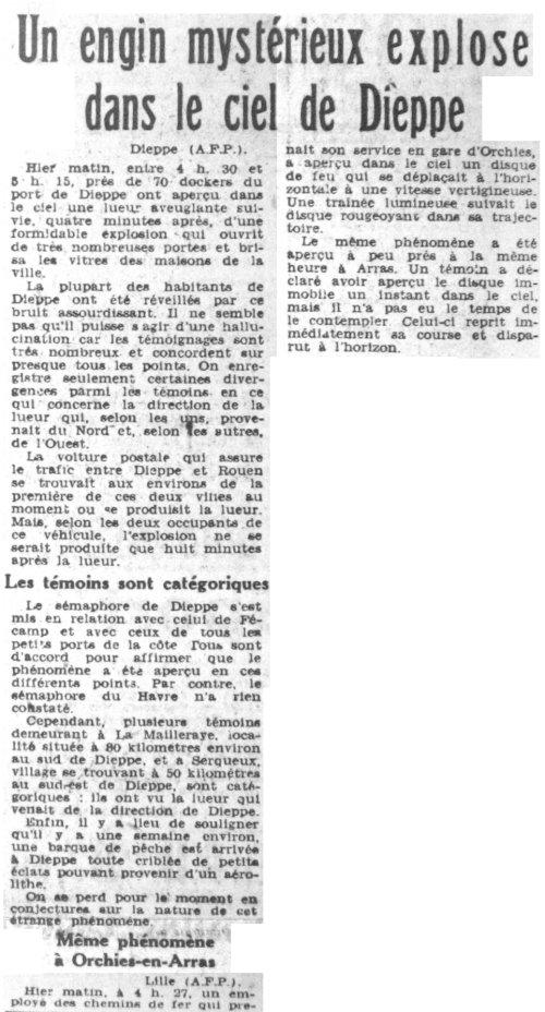Ovni les ovnis vus de pr s france 1954 7 janvier serqueux seine maritime - Journal le provencal ...