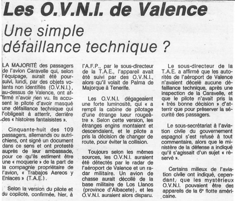 Ufo Ufos At Close Sight The Newspapers The Valence Ufo